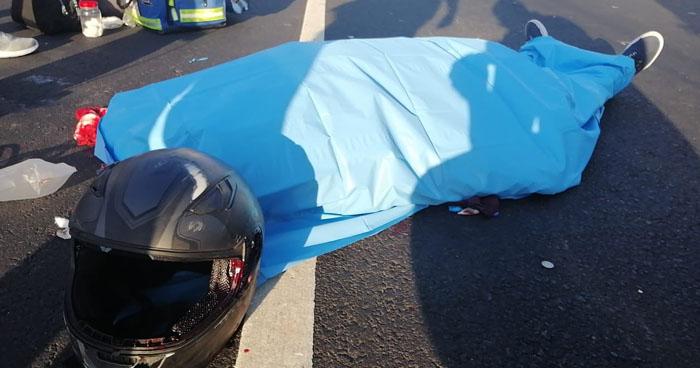 Motociclista fallecido tras accidente en carretera al Puerto de La Libertad