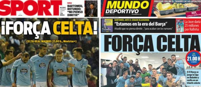 Prensa Catalana aumenta la polémica para el partido pendiente del Celta de Vigo contra Real Madrid