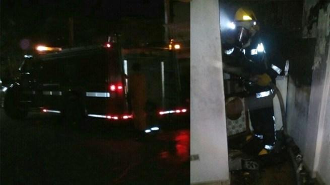 Bomberos de San Miguel rescatan a mujer de una vivienda incendiada