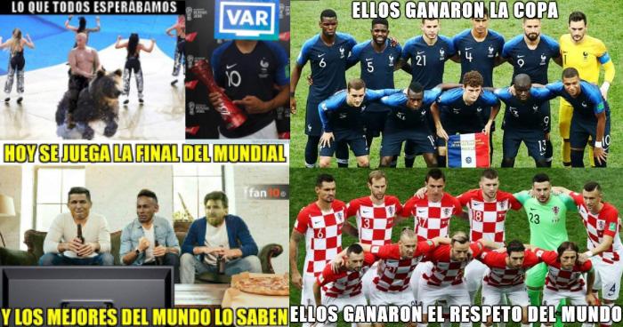 Los MEMES inundan las redes tras la final del mundial Francia 4-2 Croacia