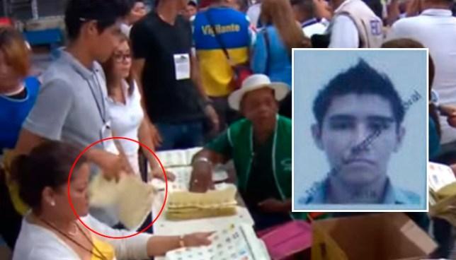 Identifican a joven del video que traspasó papeleta a vigilante del CD durante conteo de votos en San Miguel