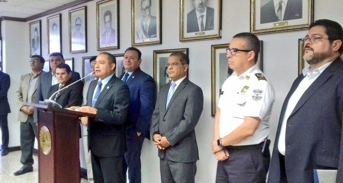 Gabinete de Seguridad hace la entrega del proyecto de distribución de fondos de CESC