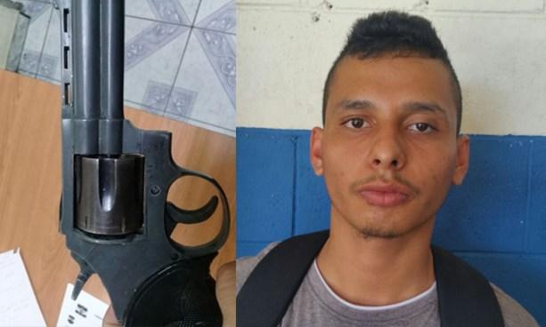 PNC captura a gatillero de pandillas en San Salvador y le incautan un arma de fuego