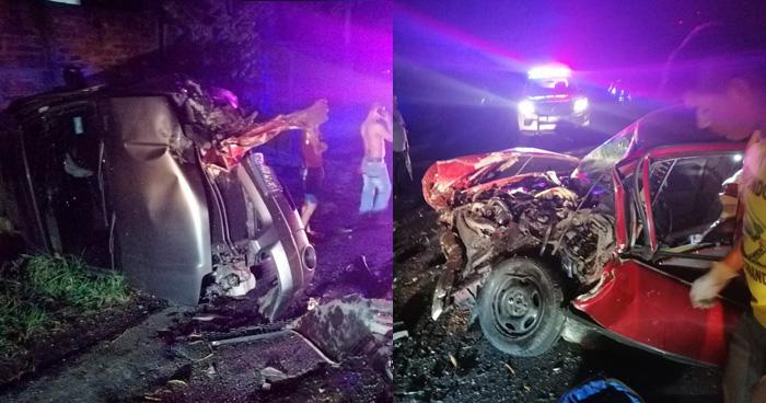 Dos personas resultaron lesionadas tras grave accidente de transito en Suchitoto
