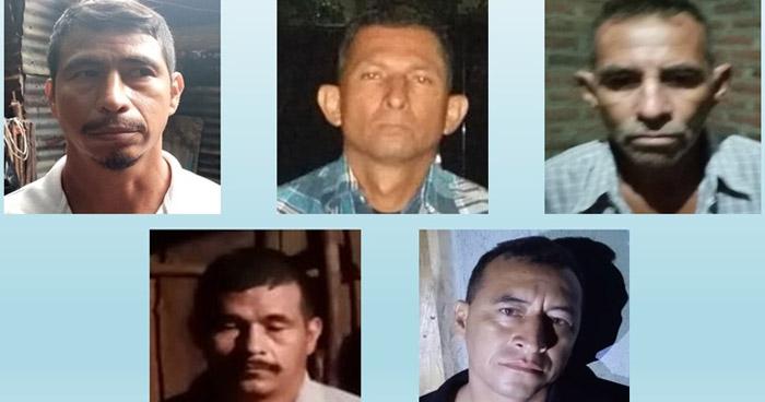 Capturan a 5 miembros de un grupo de extermino vinculados a un cuádruple crimen en Sonsonate