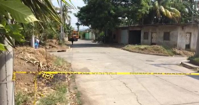 Acribillan a balazos a un hombre en colonia Villa Lilian de Sonsonate