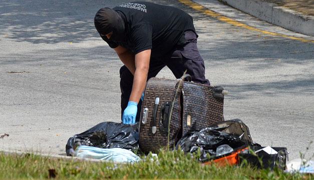 Encuentran una maleta con restos humanos en Apopa