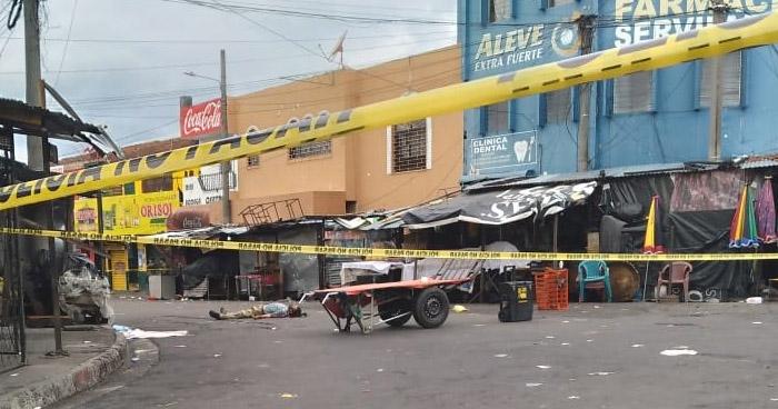 Asesinan a hombre en inmediaciones del Mercado Central