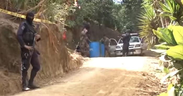 Al menos 10 sujetos asesinaron a un pandillero al interior de una finca en Comasagua