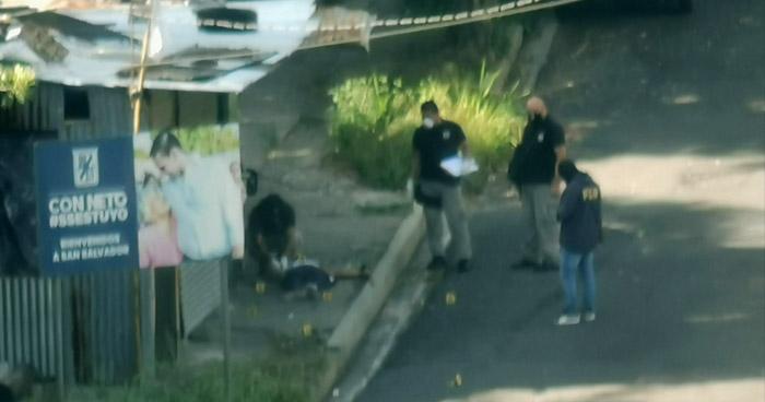 Un hombre fue asesinado en calle al Tobogán, San Salvador
