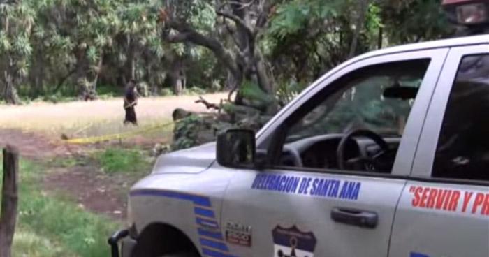 Pandilleros privan de libertad y asesinan a un hombre de 60 años, en Santa Ana