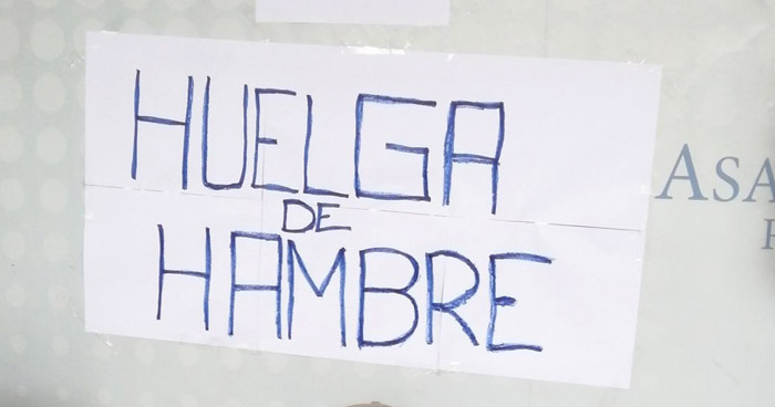 Huelga de Hambre para exigir su reinstalo a sus labores en la Asamblea Legislativa