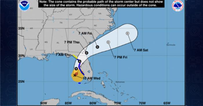 Eta se convierte nuevamente en huracán y se acerca la costa norte de Florida