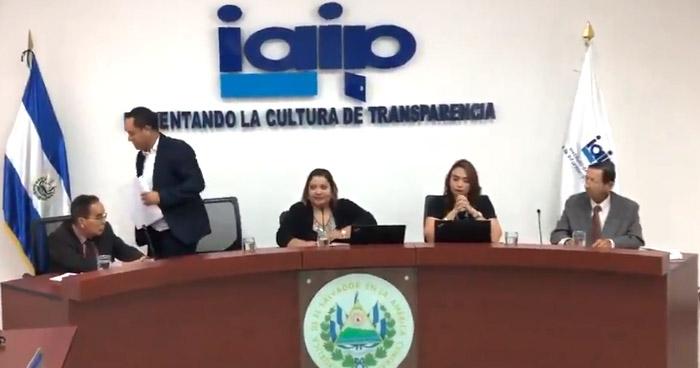 Apartan a nuevo comisionado del IAIP por solicitud de declaración patrimonial de Nayib Bukele
