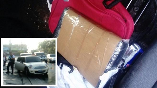 DAN incauta un kilo de cocaína y captura a un sospechoso sobre la Alameda Juan Pablo II