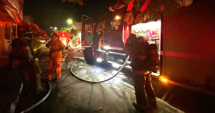 Incendio en vivienda alquilada por empresa de Seguridad en Bosques de La Paz, Ilopango