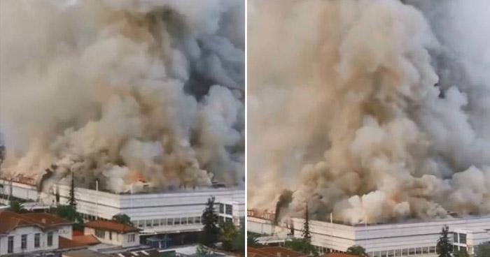 Fuerte incendio obligó la evacuación de un hospital en Chile
