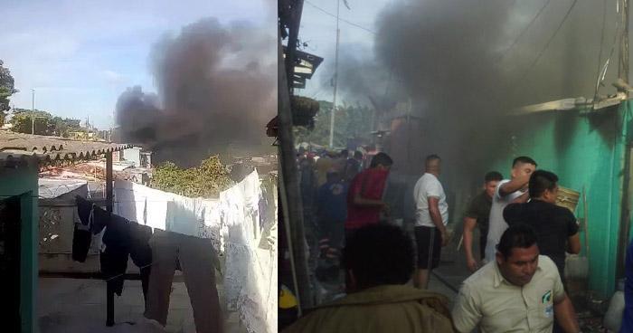 Diez viviendas dañadas por incendio en comunidad de Ciudad Delgado