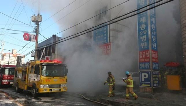 Más de 40 muertos deja un incendio en un hospital de Corea del Sur