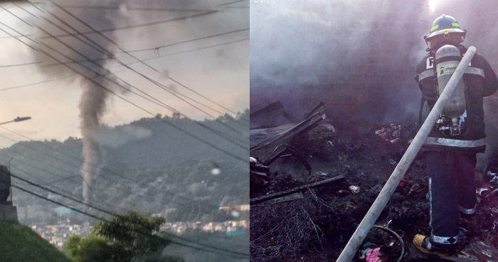 Vivienda se incendió esta mañana en Ciudad Credisa, Soyapango