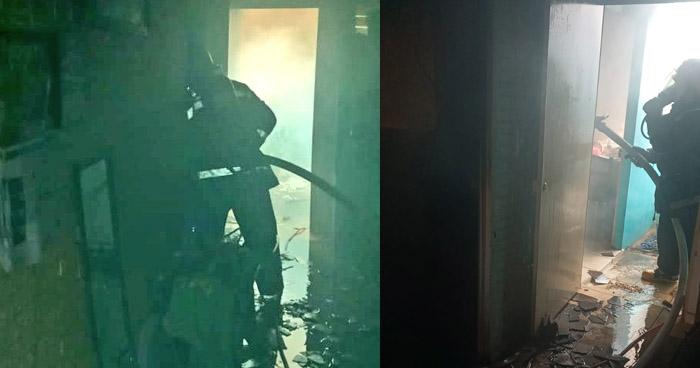 Sofocan incendio en vivienda de Bosques de La Paz, de Ilopango