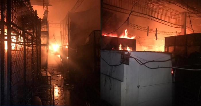Al menos 40 puestos afectados por incendio en mercado de Usulután