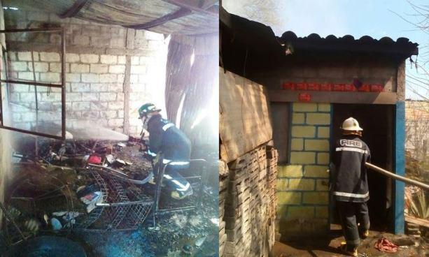 Dos menores resultaron con graves quemaduras tras incendiarse su vivienda en San Miguel