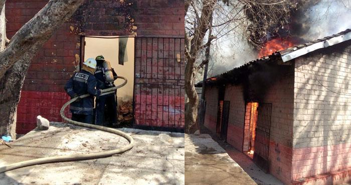 Evacuan por fuerte incendio al interior de una vivienda en San Miguel