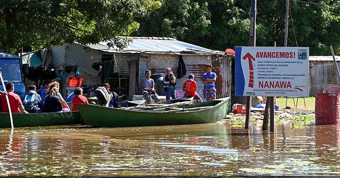 Seis muertos tras inundaciones en Paraguay