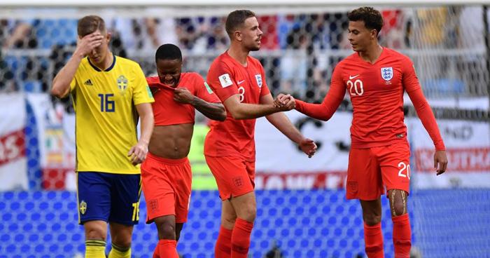 Inglaterra se clasifica a las semifinales del mundial Rusia 2018 y elimina a Suecia