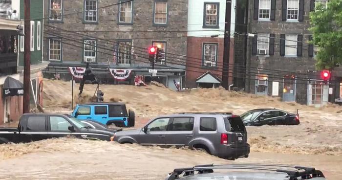 Así de graves las inundaciones en el área metropolitana de Baltimore, Maryland, EE. UU.