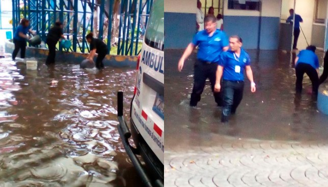 Lluvias causan inundación en Hospital Amatepec del ISSS