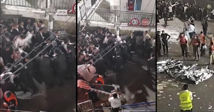 Estampida deja más de 40 muertos durante peregrinación judía ortodoxa en Israel