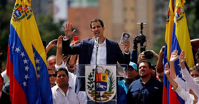 """EE.UU y otro países reconocen a Juan Guaidó como el jefe de Estado """"legítimo"""" de Venezuela"""