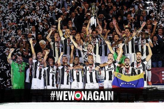Juventus Campeón de Copa y va por el Triplete