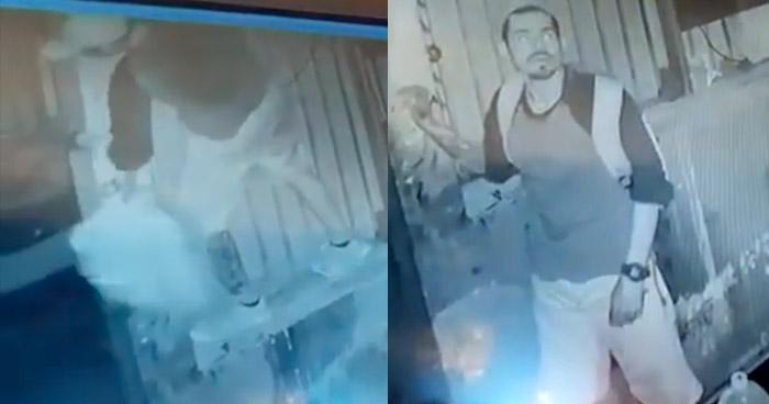 VIDEO   Captan a ladrón ingresando a un local comercial en San Salvador