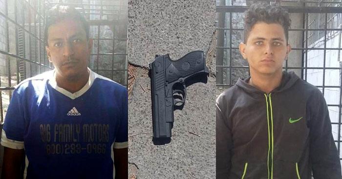 Capturan a sujetos que roban con un arma de juguete a habitantes de Soyapango