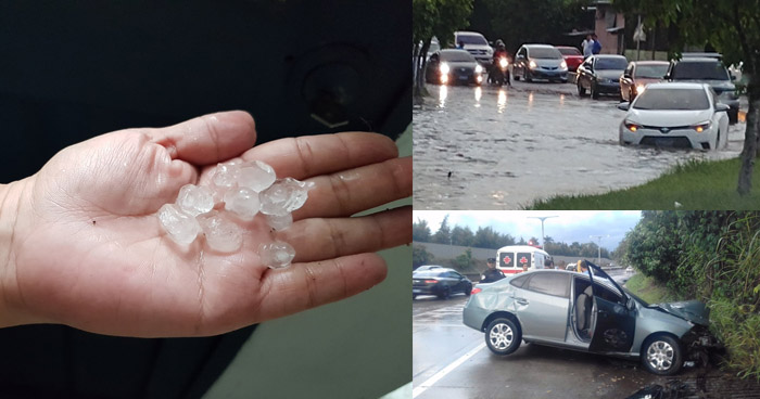 Lluvia de esta tarde ha dejado estragos en diferentes calles del país