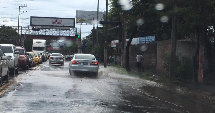 Probabilidad de lluvia sobre el territorio nacional con énfasis en la zona oriental y zonas altas del país
