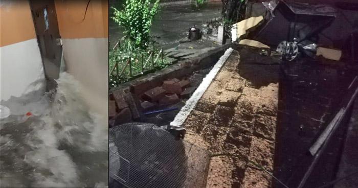 Fuerte lluvia de anoche afectó a varias viviendas de la colonia Santa Lucía de Ilopango