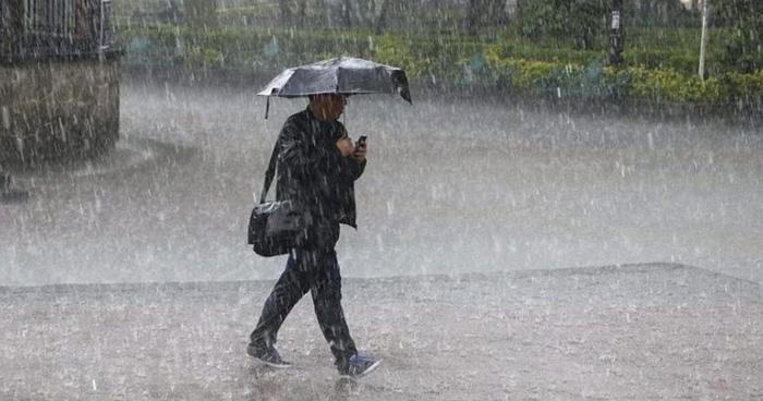 Emiten aviso por lluvias y tormentas eléctricas esta noche, mañana y el Sábado