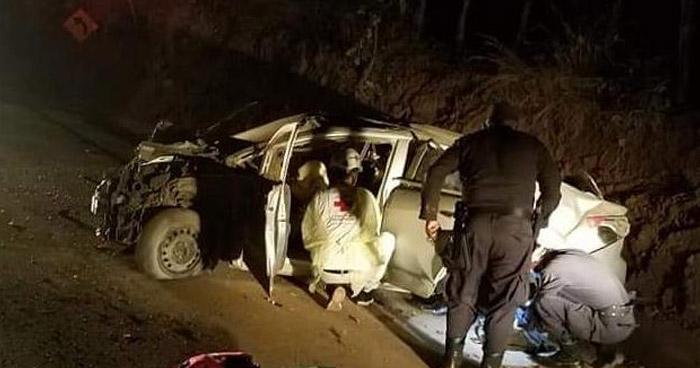 Dos lesionados tras accidente en carretera Longitudinal del Norte