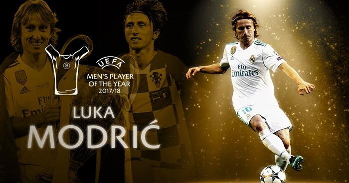Luka Modrić ganador del premio al Jugador del Año de la UEFA