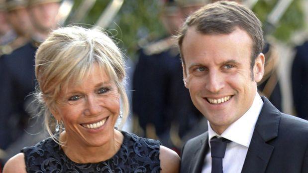La historia de amor del presidente electo de Francia y su esposa
