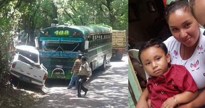 Mueren niño de 17 meses y su madre, que quedaron lesionados tras accidente de transito ayer en Usulután