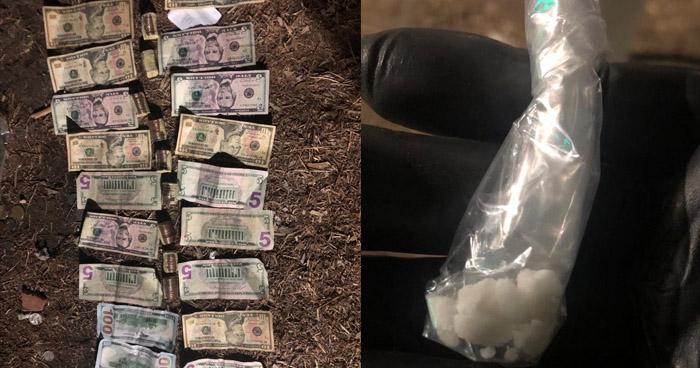 Incautan maletín que contenía $500 en efectivo y droga