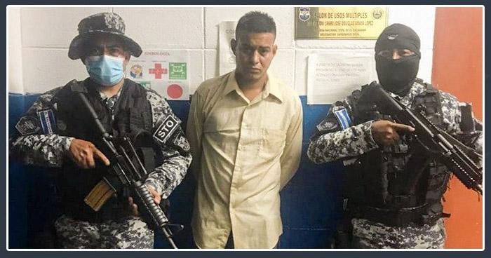 """Detienen a pandillero alias """"Once"""" en colonia Las Margaritas, Soyapango"""