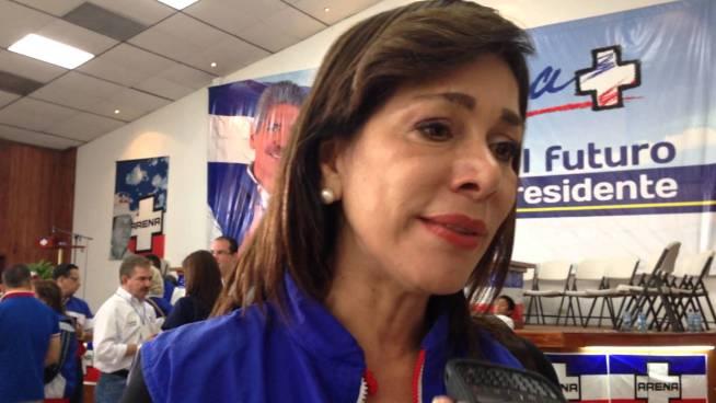 Ana Vilma de Escobar anuncia que no buscara la reelección como diputada