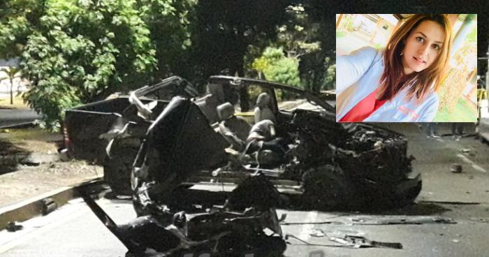 Estudiante de Medicina murió tras choque provocado por su novio ebrio en la Autopista a Comalapa