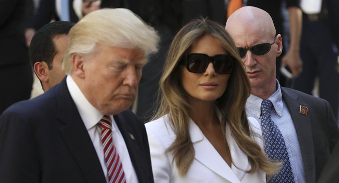 Melania 'se rebela' ante Trump en Israel